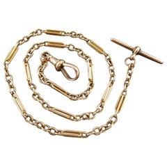 Late Victorian Albert Watch Chain, Trombone Links, circa 1900