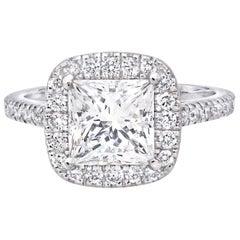 2.16 Carat Princess Cut Engagement Ring