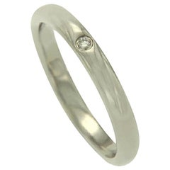 Tiffany & Co. 950 Platinum One Diamond Peretti Band Ring