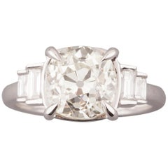 3.25 Carat Cushion Diamond Ring