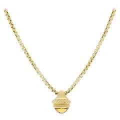 David Yurman Gold Citrine Necklace