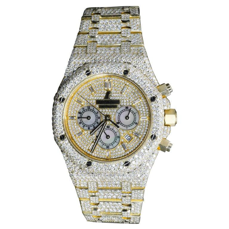 Audemars Piguet Yellow Gold Royal Oak Chronograph Self-Winding Wristwatch