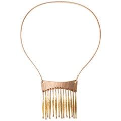 1970s Bent Gabrielsen, Gold Articulated Fringe Necklace