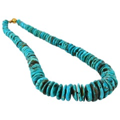 Decadent Jewels Turquoise Heshi Gold Necklace