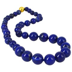 Decadent Jewels Lapis Lazuli Gold Necklace