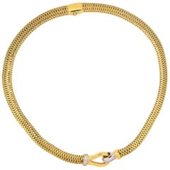 "Roberto Coin Mesh ""Primavera"" Choker Necklace with Diamonds"