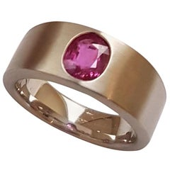 Ring Natural Ruby Platinum by Wagner Preziosen