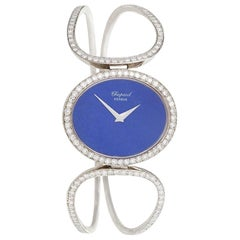 Chopard Geneva Late 20th Century Diamond Lapiz Lazuli and Gold Watch