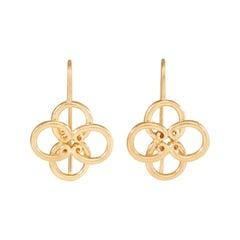 Silver Gold Vermeil Quatrefoil Earrings