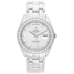 Rolex Platinum Diamond Masterpiece Day-Date Automatic Wristwatch Ref 18946