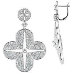 Quatrefoil Diamond Earrings