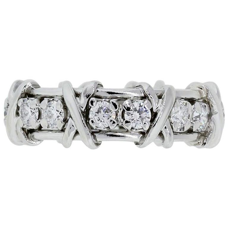 "Tiffany & Co. Schlumberger Diamond ""X"" Eternity Band"