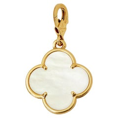 Van Cleef & Arpels 18 Karat Yellow Gold Mother-of-Pearl Pure Alhambra Charm