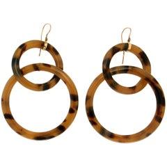 Galalith Gold Drop Earrings