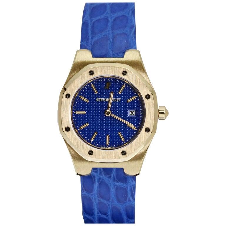 Audemars Piguet Ladies Yellow Gold Royal Oak Quartz Wristwatch For Sale