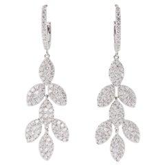 Diamond Chandelier Gold Earrings