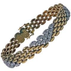 18 Karat Diamond Bracelet, 20th Century
