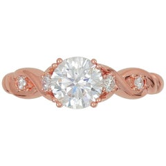 Frederic Sage Pink Gold Double Helix Engagement Ring (Center not included)
