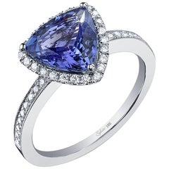 Trillion Cut Sapphire Engagement Ring SS023