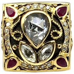 Georgios Collections 18 Karat Yellow Gold Byzantine 2.36 Carat Diamond Ring