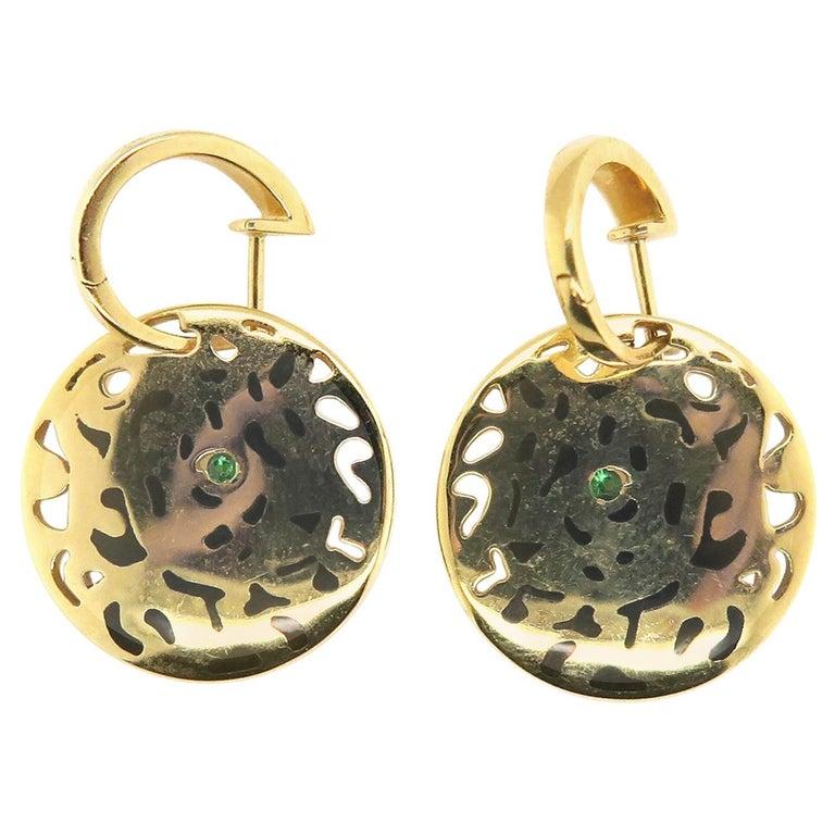 Authetic Panthere De Cartier Earrings