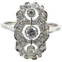 Art Deco Design 0.68 Carat Diamond Ring