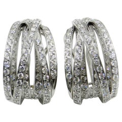 18 Karat White Gold White Diamonds Garavelli Earrings