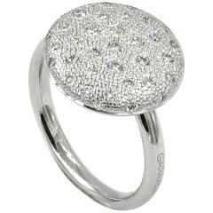 18 Karat White Gold Diamonds Garavelli Ring