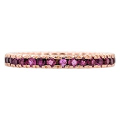 14 Karat Rose Gold Ruby Eternity Stackable Band