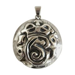 Silver Pendant with a Monogram from King Christian 5 of Denmark