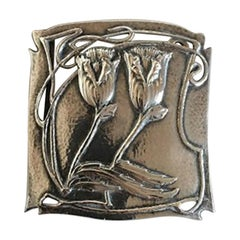 Arts & Crafts Belt Buckle with English Silver Marks