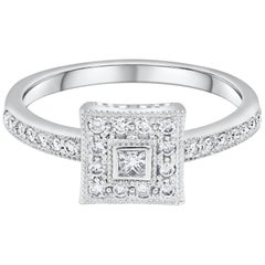 Charriol Princess Cut Diamond Cluster Engagement Ring