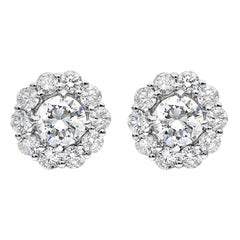 1.43 Carat Diamond Earrings