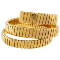 Bulgari Yellow Gold Tubogas Bracelet Bvlgari, 1970s