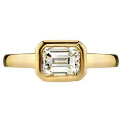 1.20 Carat GIA Certified Emerald Cut Engagement Ring