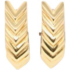1980s Aldo Cipullo 18 Karat Yellow Gold Earrings