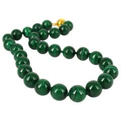 Decadent Jewels Malachite Gold Necklace