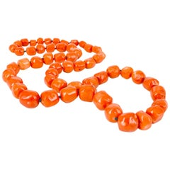 Decadent Jewels Long Coral Necklace
