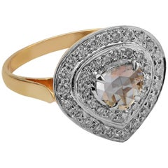 Emma Chapman Diamond 18 Karat Yellow Gold Dress Ring