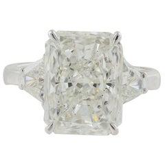 GIA Certified 5.03 Carat Radiant Cut Diamond Ring
