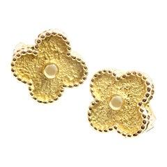 Van Cleef & Arpels Vintage Alhambra Yellow Gold Earrings