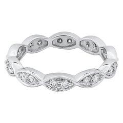 Antique Style 0.50 Carat Total Diamond Eternity Wedding Band