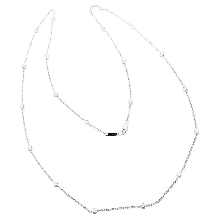 Tiffany & Co. Diamond Long Platinum Chain Necklace