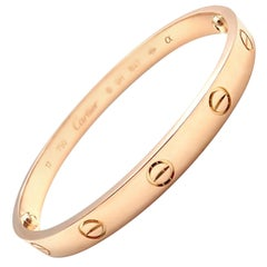 Cartier Love Rose Gold Bangle Bracelet