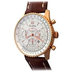Breitling Rose Gold Navitimer Montbrillant Chronograph Automatic Wristwatch