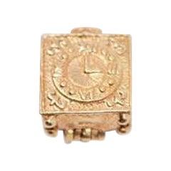 Gold Vintage 14 Karat Grim Reaper Clock Charm
