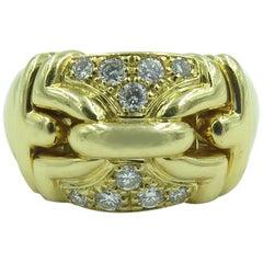 Bulgari Gold and Diamond Trika Ring