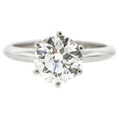 Traditional White Gold Six-Prong Diamond Solitaire Engagement Ring