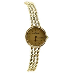 Baume & Mercier Ladies Yellow Gold Cable Bracelet Quartz Wristwatch