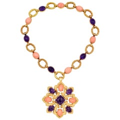 Van Cleef & Arpels Coral or Amethyst Necklace, Brooch or Bracelet